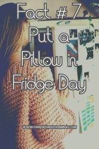 Fact # 7 Put a Pillow in Fridge Day