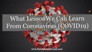 lesson to learn from corona virus