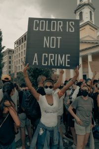 the girl with the color is not a crime poster